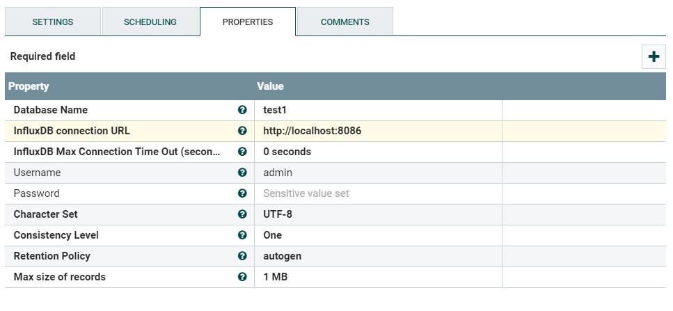 Saving data in InfluxDB using Apache NiFi – LostInSoftware